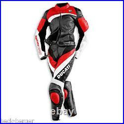 Ducati Dainese Corse Femmes Combi Cuir Break Cuir Suit Noir Rouge Femme Neuf