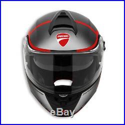 Ducati Nolan X-Lite Horizon Casque Modulable Parasoleil Gris Rouge Casque Neuf