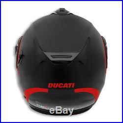 Ducati Nolan X-Lite Horizon Casque Pliable Parasoleil Gris Rouge Neuf 2018