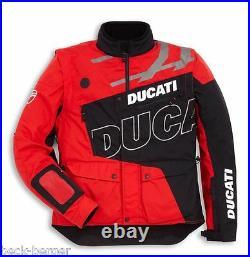 Ducati Scott Enduro Veste/Blouson en Tissu Tex Veste Extérieur Noir Rouge Neuf