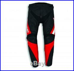 Ducati Vitesse Evo C1 Pantalon en Cuir Noir/Rouge Pantalon Moto Neuf