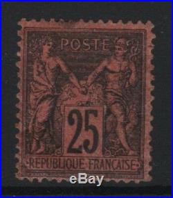 FRANCE STAMP TIMBRE YVERT N° 91 SAGE 25 c NOIR SUR ROUGE NEUF A VOIR T523