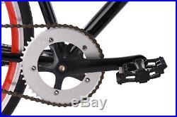 Fixie 28 Vélo à Pignon Fixe Flip Flop Noir-rouge Neuf KS Cycling M162R