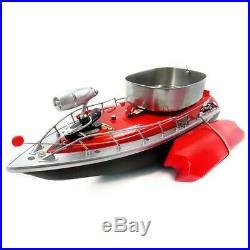Flytec 3 bateau rc appât de pêche complet 300m 1,2kg 2h20 métal rouge neuf