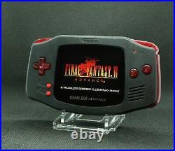 Gameboy Advance Noire et rouge transparent écran IPS v2 rétroéclairé neuf