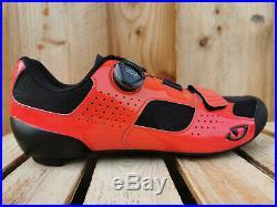 Giro Trans Boa Cycling Chaussures de Vélo Course Noir-Rouge Laqué Brillant Neuf