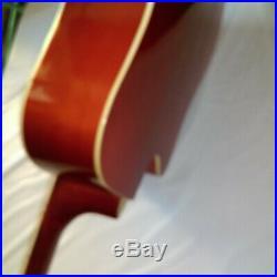 Guitare Sèche Folk 41 Stol Couleur Rouge / Noir Neuf Garantie 12 Mois