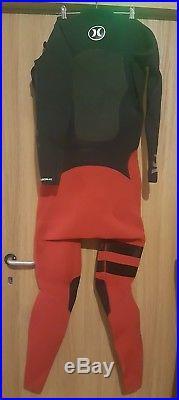 HURLEY FUSION 403 FULLSUIT Combinaison Néoprène Rouge & Noir Taille XL NEUF