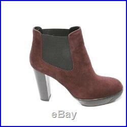 Hogan Bottines Taille D 37,5 Rouge Noir Femmes Chaussures Boots Neuf Bottes