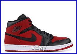 Homme Nike Air Jordan 1 mi Gym Rouge Noir Blanc 554724 610 Neuf dans la Boîte