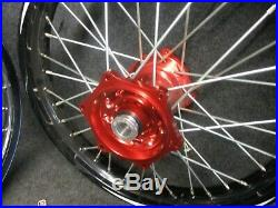 Honda CRF250 CRF450 2014-2020 Neuf Talon 21 + 48.3cm Rouge+Noir Roue Set CR4640