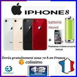 IPHONE 8 64 GO /noir/rouge/or/blanc Reconditionné DÉBLOQUÉ TOUT OPÉRATEUR