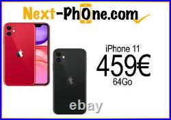 IPhone 11 64Go Rouge/Noir Occasion Comme Neuf