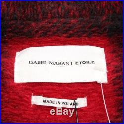 Isabel Marant Etoile Manteau Gr. De 38 Fr 40 Rouge Noir Femmes Neuf