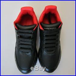J-4216187 Neuf Alexander Mcqueen Noir Rouge Ample Runner Baskets Taille 42 US 9