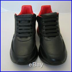 J-4217187 Neuf Alexander Mcqueen Noir Rouge Oversize Runner Baskets Taille 43 US
