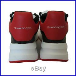 J-4219203 Neuf Alexander McQueen Noir Rouge Ample Runner Baskets Taille 42 US 9