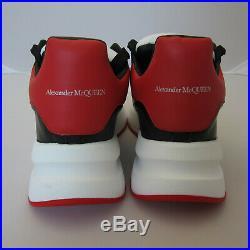 J-4220203 Neuf Alexander Mcqueen Noir Rouge Oversize Runner Baskets Taille 43 US