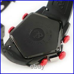 JACOB&CO JC-GR4-16 Quartz Homme Montre Rouge Noir Neuf Batterie 18.5cm Ex Rare