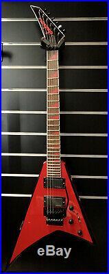 Jackson Rhoads RRX24 Rouge avec Noir Bevels Modèle Spécial Neuf Neuf