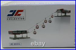 Jägerndorfer 82496 Téléphérique D Ligne Jeu Rouge Noir + 6 Gondoles H0 187 Neuf