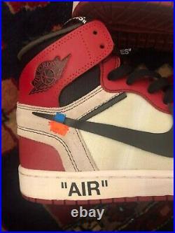 Jordan 1 Retro High Off-white Chicago Neuf Taille Eur 43/us 9,5/uk 8,5 /