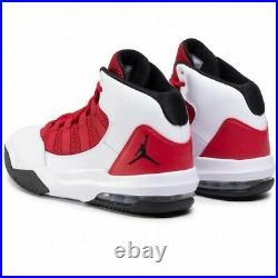 Jordan Max Aura blanche rouge noir taille 42 état neuf avec emballage
