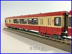 Jouef 5489 + 8626 Rame Autorail AED XBD 4737 + XRABx 8734 SNCF en HO état neuf