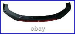 Lame de Pare-choc Audi A4 B8 2008 2011 NEUF Peint noir/rouge