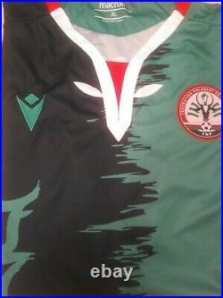 Lot 4 maillots football BAREA MADAGASCAR Macron XL neufs vert, rouge, blanc, noir