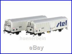 Ls Models 30229 2xSNCF 2achs Wagon entre Frigo Ibbehs Stef Blanc Ep4-5 Neuf +