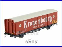 Ls Models 30668 3xSNCF 2achs Fermé Güterwg. Kronenbourg Rouge/Blanc Ep3 Neuf+