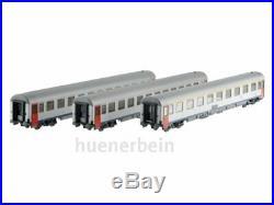 Ls Models 42326 3x Sncb Voitures I6 Blanc/Bleu/Rouge Fahrradabteil Ep6 Neuf+