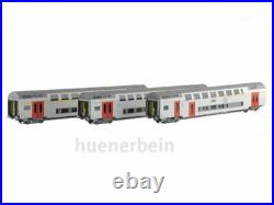 Ls Models 43510 Sncb Jeu 3x Doppelstockwg. 1 2. Kl. M6 AC Blanc/Gris Ep5 H0 Neuf