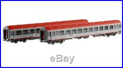 Ls Models 47059 ÖBB 2x 2. Kl. Couchettes Bcmz Gris/Rouge Euroturk Ep5-6 H0 Neuf+