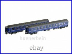 Ls Models 77051 Jeu 2x ÖBB 2. Classe Couchettes Bcmz 59-70 Bleu/Gris Ep4 Neuf