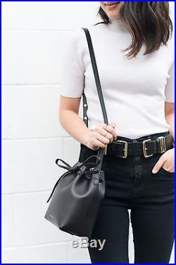 MANSUR GAVRIEL Mini Bucket Bag Black Noir Flamma Rouge Sac Medium NWT NEUF
