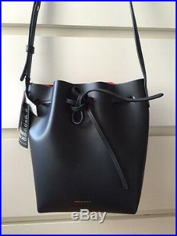MANSUR GAVRIEL Mini Bucket Bag Black Noir Flamma Rouge Sac Medium NWT mija neuf