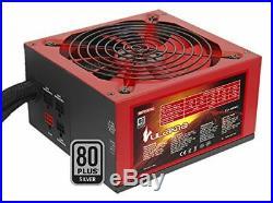 MARS Gaming Alimentation pour jeux PC 750 W, MPVU750 Noir/rouge NEUF