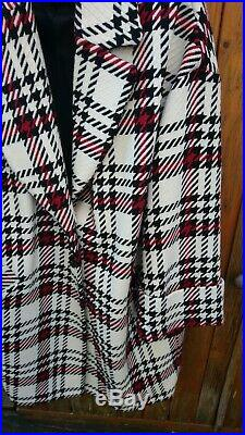 Manteau tartan Un Jour Ailleurs T 3 Neuf Ecru/rouge/Noir