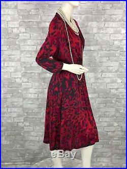 Max Mara Neuf Défilé Rouge Noir Robe Extensible Haut Enveloppe Doublé 10 US 46 C
