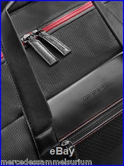 Mercedes Benz AMG Original Weekender Cuir Noir/Rouge Neuf Ovp