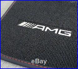 Mercedes Benz AMG Tapis de Sol Original C 117 Cla Coupe Rhd Noir/Rouge Neuf