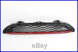 Mini Neuf Véritable F56 F57 avant Jcw Noir Capuche Grille avec Logo Piment Rouge