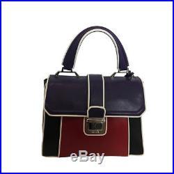 Miu Miu Prada Femmes Violet Rouge Noir Sac à Main 5ba133 Neuf avec Étiquettes