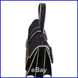 Miu Prada Femmes Violet Rouge Noir Sac à Main 5BA133 Neuf avec Étiquettes