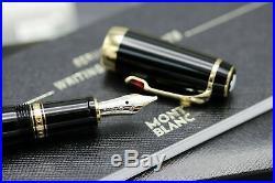 Montblanc Boheme Noir & or Stylo Rouge 14ct Med PT Neuf en Boîte 25100