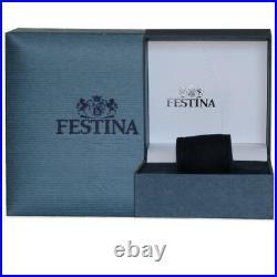 Montre Festina Homme Acier Chrono Noir F16488/5 Double Fuseaux Neuf