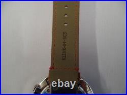 Montre Klokers Klok 01 Point Noir Bracelet Alcantara Rouge Neuf