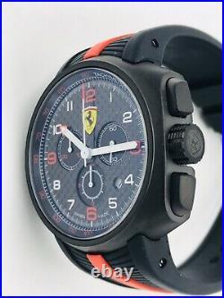 Montre Scuderia Ferrari Chrono Swiss Made FE10KRKG/495 44mm Bradé Neuf